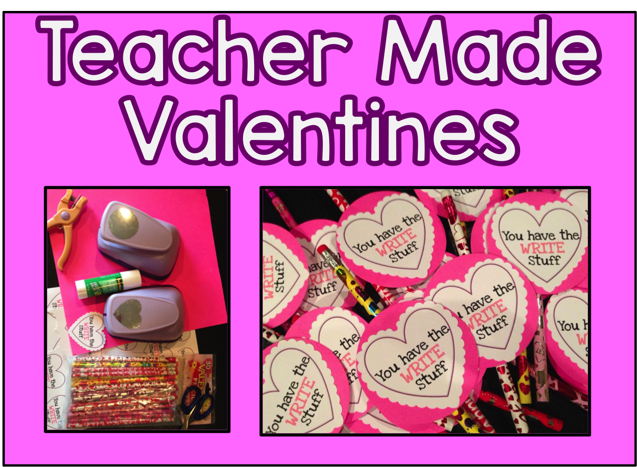 Free Teacher Valentines No Time To Create Your Own All You Need Are Some Pencil And A Printer