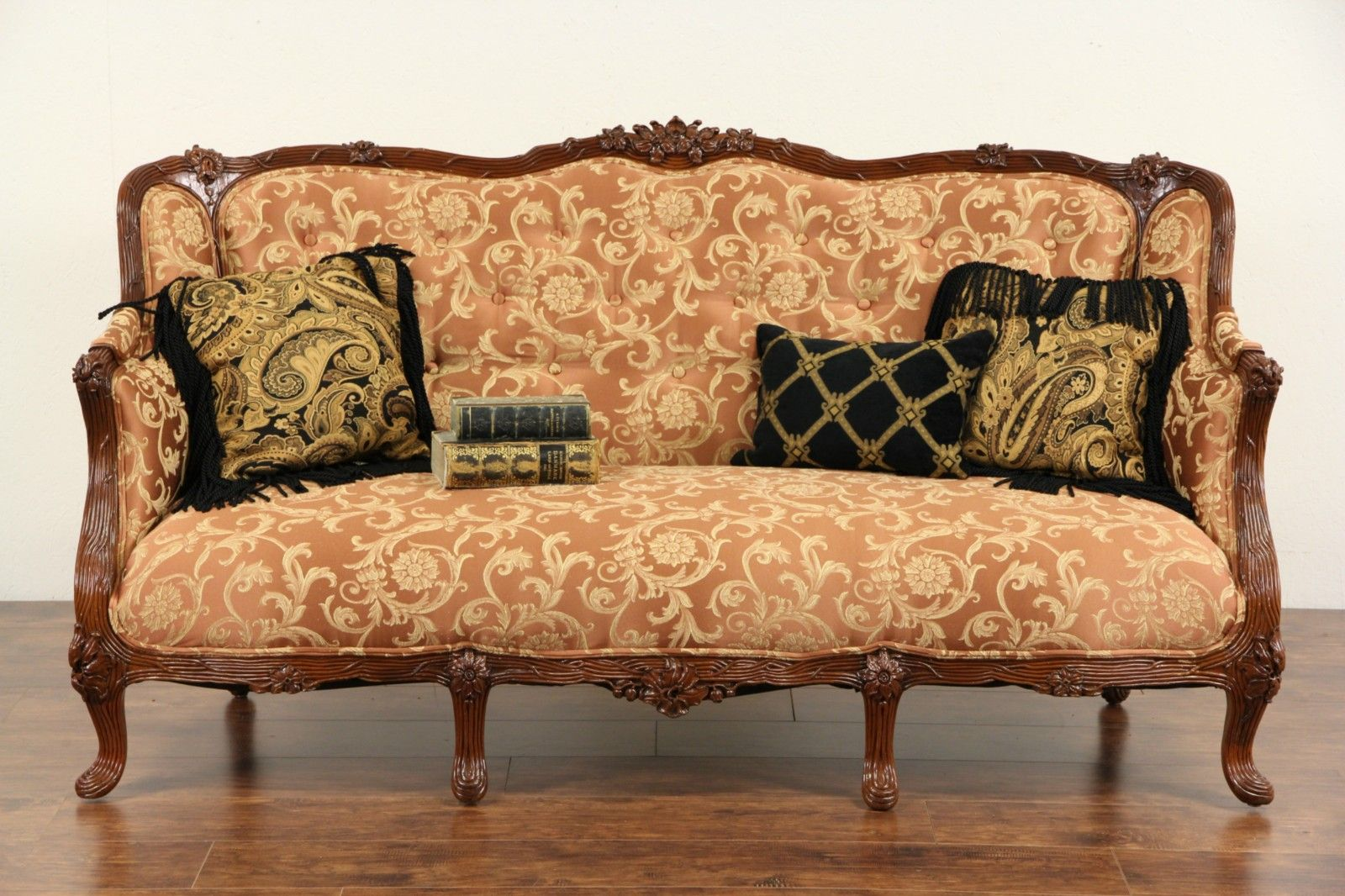 French Style 1930 S Carved Vintage Sofa New Upholstery Sofa Styling Furniture Vintage Sofa