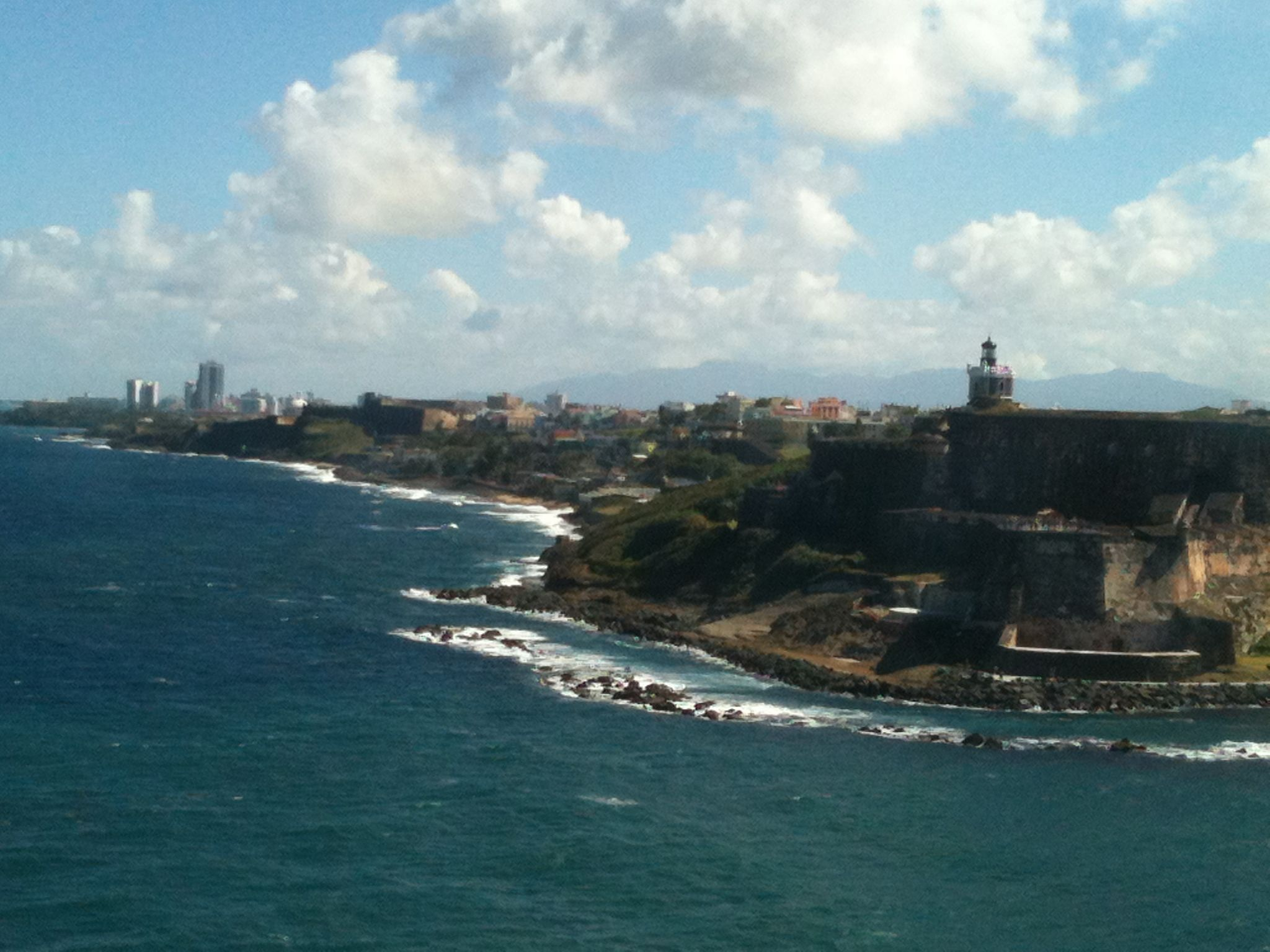 """What a view   """" El Morro""""   San Juan Puerto Rico from a cruise ship, coming into port."""
