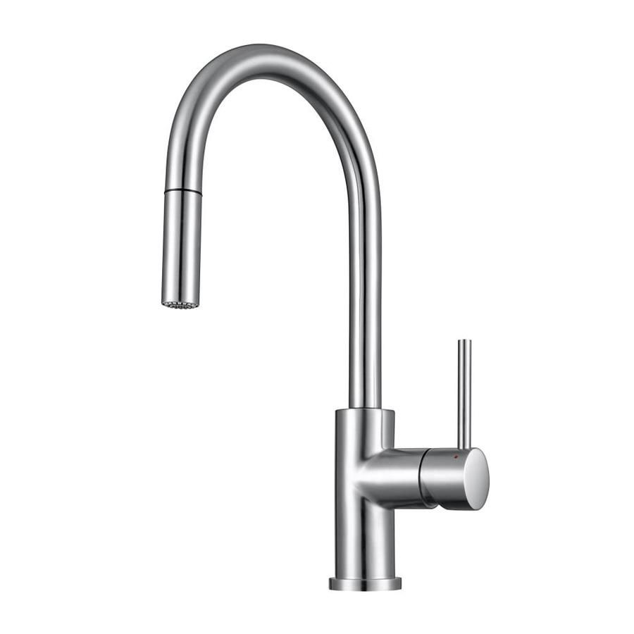 Franke Eos Franke Stainless Steel 1 Handle Deck Mount High Arc Handle Lever Kitchen Faucet Lowes Com In 2020 Kitchen Faucet High Arc Kitchen Faucet Modern Kitchen Faucets Stainless Steel