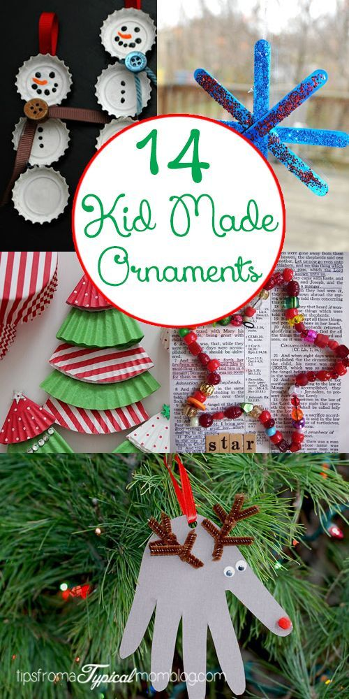 14 Kid Made Christmas Ornaments Fun activities, Ornament and