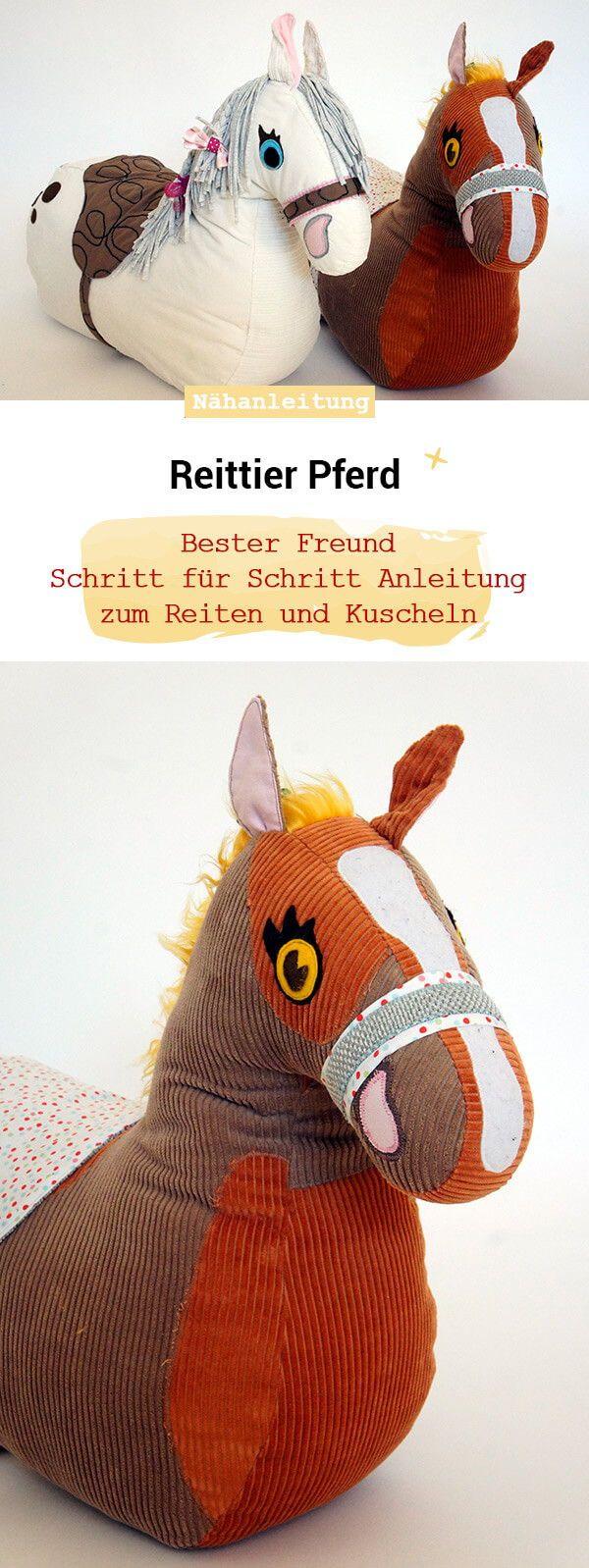 Kuscheltier Pferd und Einhorn - Frau Scheiner #horsepattern