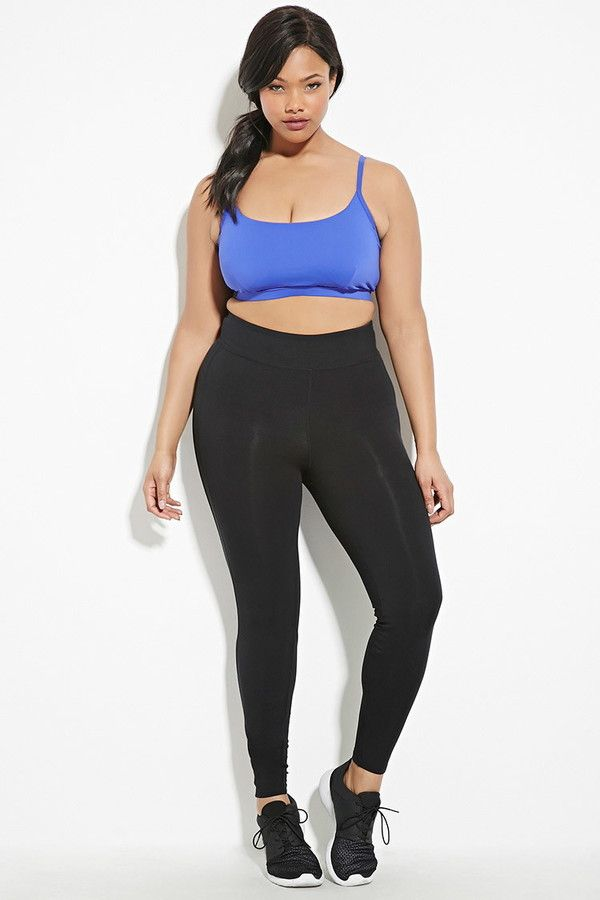 f68d1aaa1784c FOREVER 21+ Plus Size Athletic Leggings