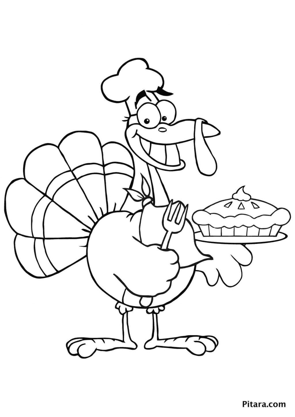 Large Turkey Coloring Page in 2020