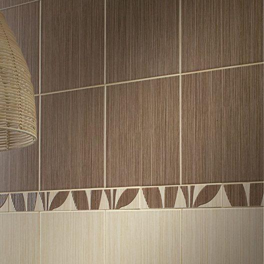 Carrelage Salle de Bain mural Bonsai en faïence, beige foncé, 20 x - brico carrelage salle de bain