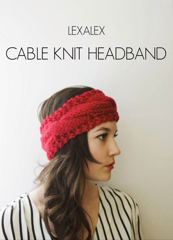 Cable Knit Headband Pattern This Cable Knit Headband Pattern is perfect for someone looking to make unique accessories. The pattern is fairly easy and