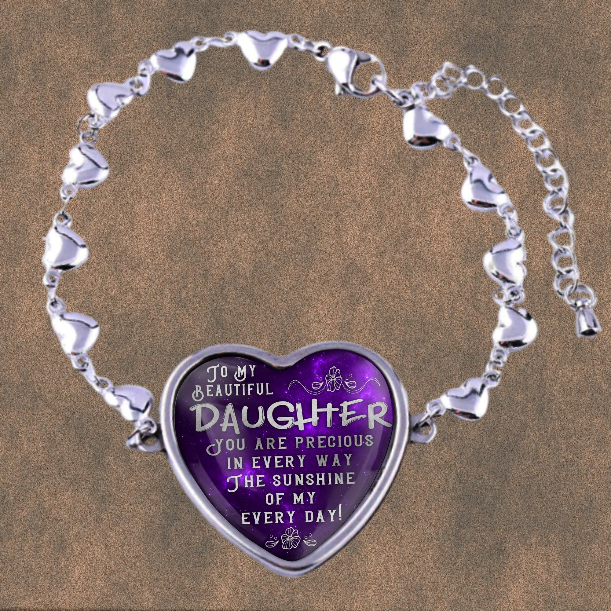 To my beautiful daughter, you are precious in every way, stainless steel heart bracelet  #design #art #giftguide #gifts #handmade #birthday #gift #designtimegnc #giftideas #gifting