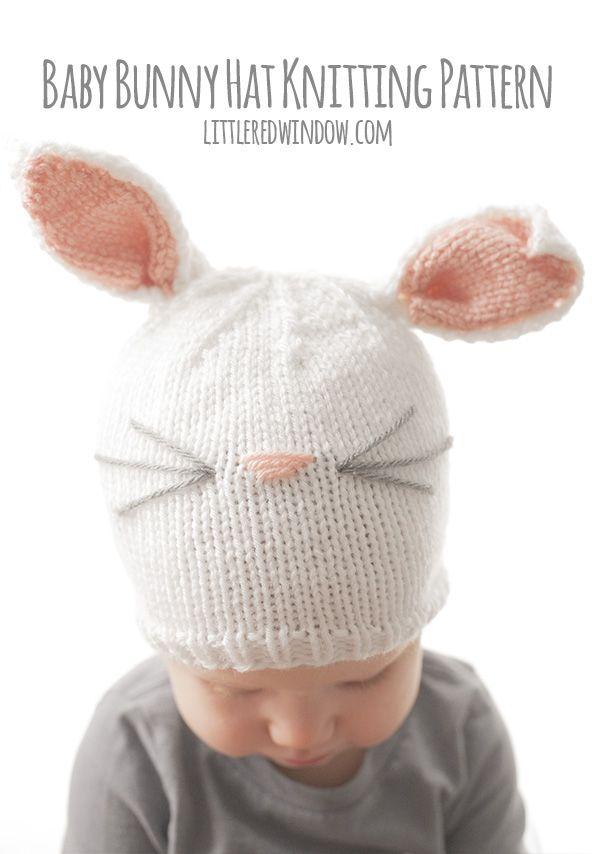 Baby Bunny Hat Knitting Pattern | Häckeln, Stricken häkeln und Strick