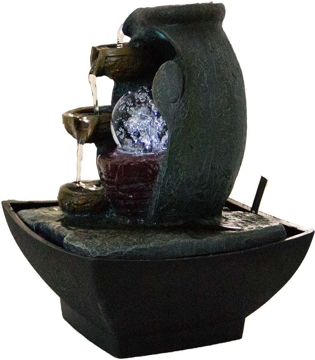 Zimmerbrunnen Grano Mit Pumpe Und Rotierender Kugel Dekoration Haus Wohnen Sport Freizeit Haus Garten Beachandpool De Zimmerbrunnen Brunnen Kugel