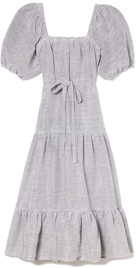 ddbcf33f5a3 Co Square Neckline Linen Dress