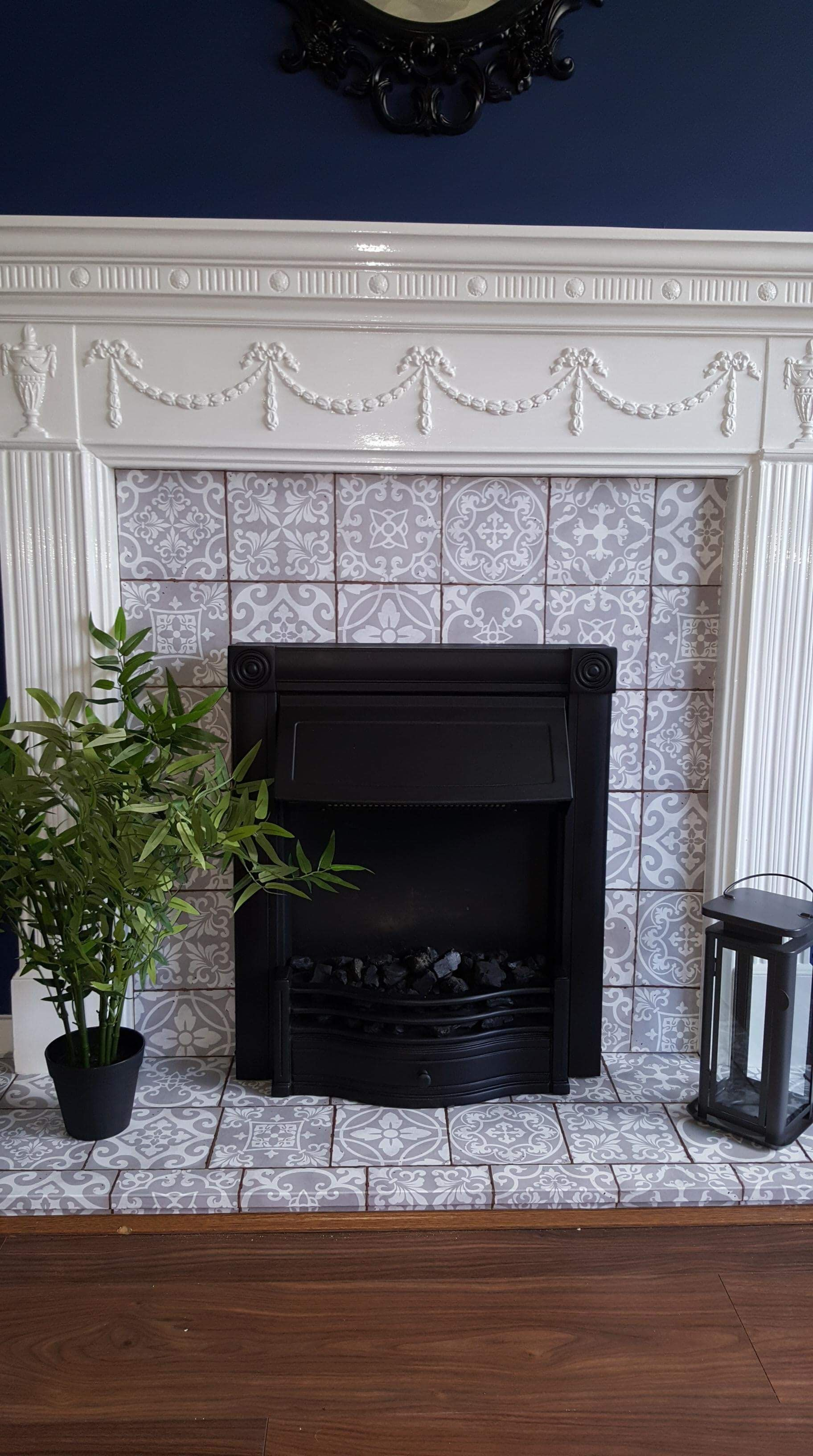 Our Fireplace When I Was Finished, Black Paint For Metal Fireplace Surround