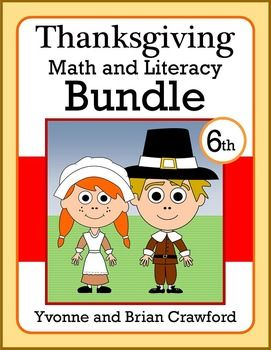 Thanksgiving Bundle for Sixth Grade Endless