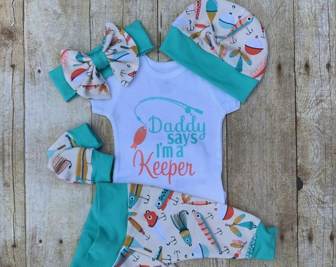 Girls Outfit Fishing Buddy Outfit Baby Outfit Baby Clothes Baby Girl Outfit