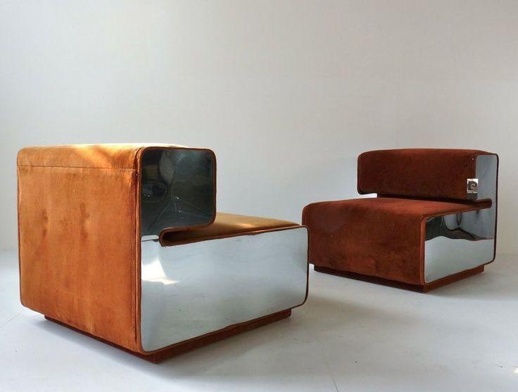 Pierre cardin design cadeira poltrona sofas e for Mobilia anos 70