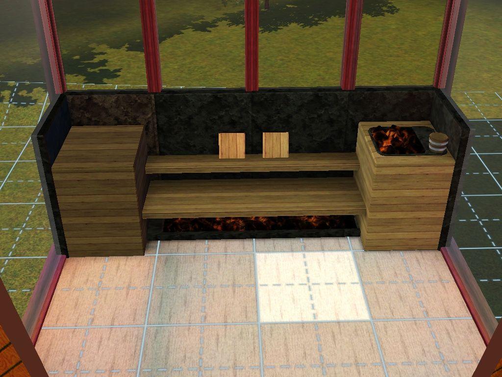 Arsil@MTS - MudBathTub + Standalone Sauna #Sims3