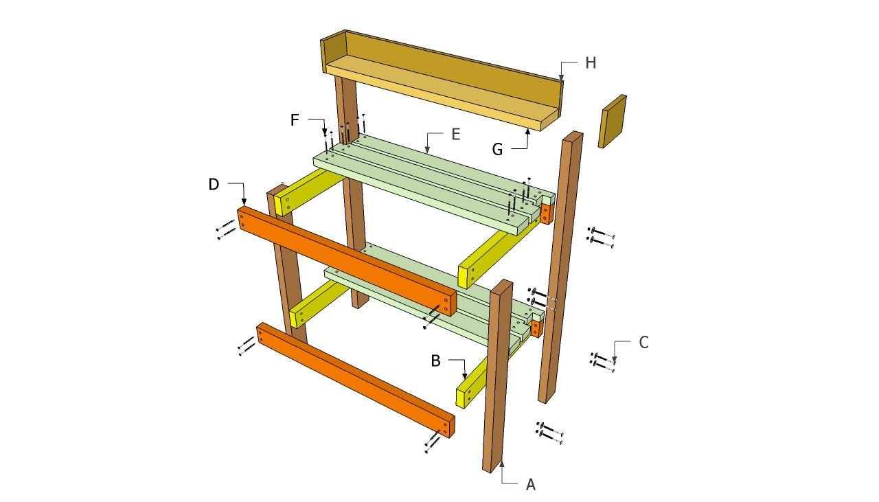 DIY Potting Bench Plans Free