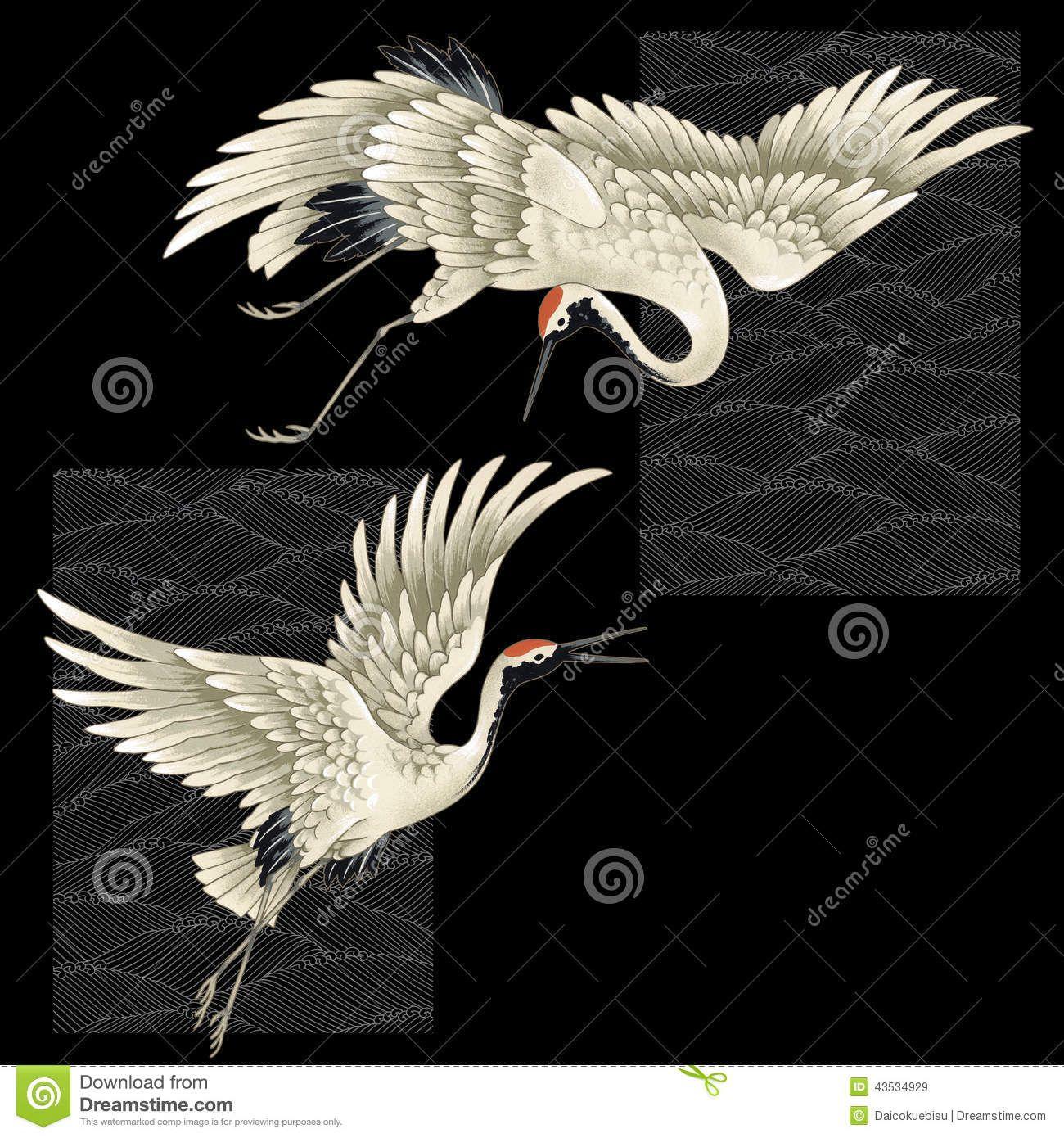 japanese crane pencil drawing - Google Search | tattoos ... - photo#9