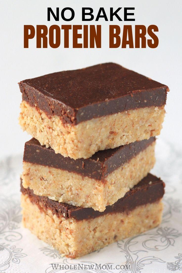 Grainfree nobake homemade protein bars recipe no