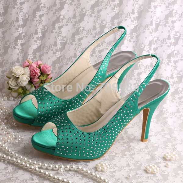 03f977fa3fd Find More Women s Sandals Information about Magic Bride High Heeled Green  Sandals Shoes for Women Wedding Party(14 Colors)