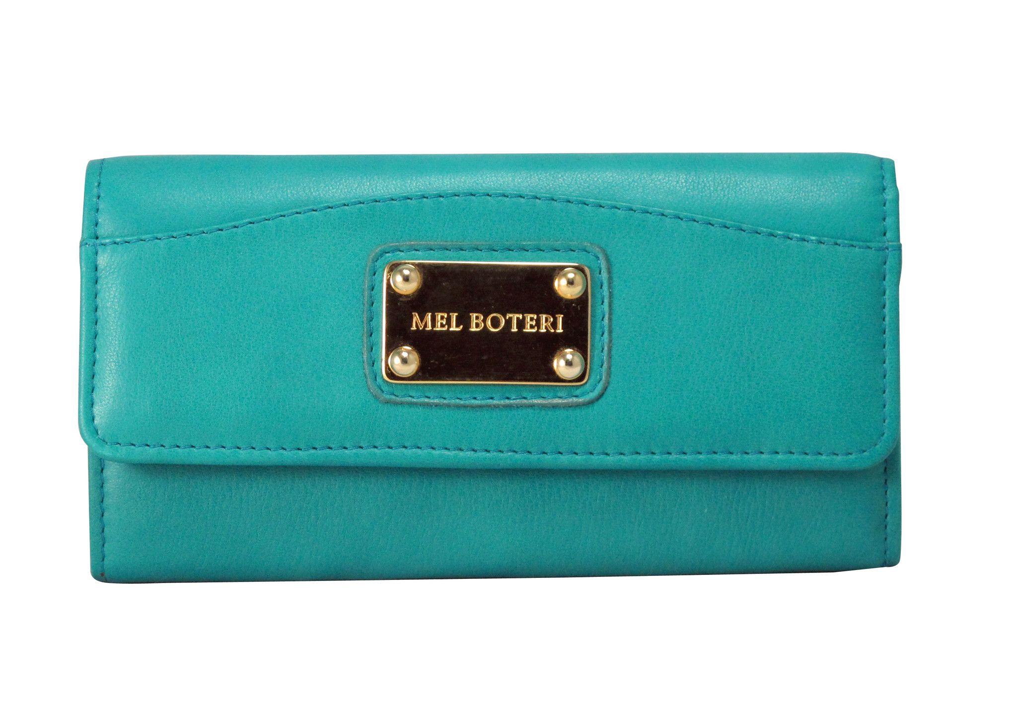 the 'Elisa' wallet in emerald green Italian leather by Mel Boteri. @Mel Boteri