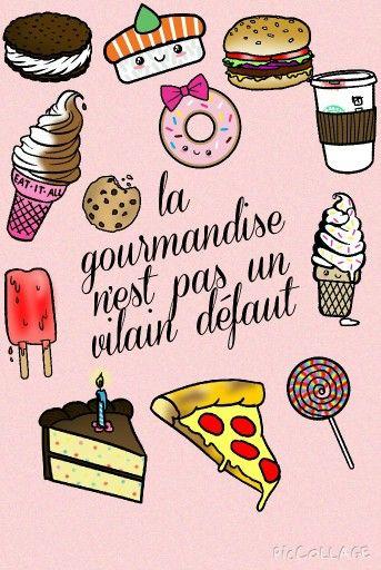Fond La Gourmandise N Est Pas Un Vilain Defaut Fond Ecran Ecran Ecran Iphone