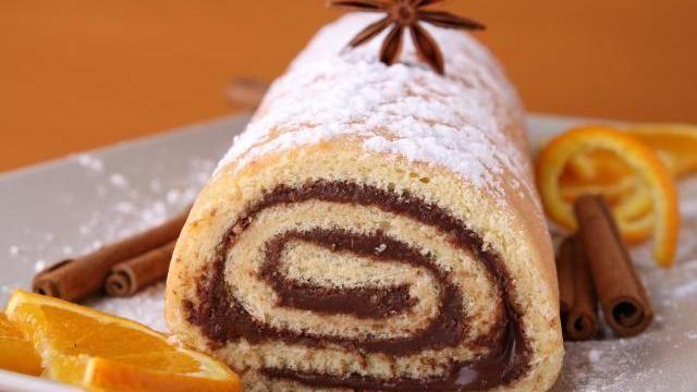 Recette : Gâteau roulé au nutella et à l'orange