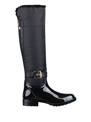 c2aaabf31d7e Cicely Faux Fur-Lined Knee-High Rain Boots at Guess