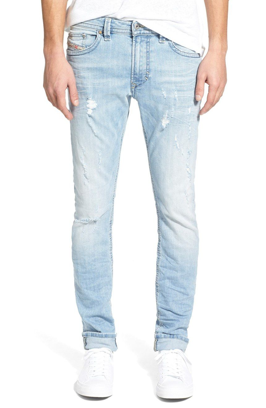 4bc79a32 Diesel faded light blue denim slim fit jeans | All Men Everything ...