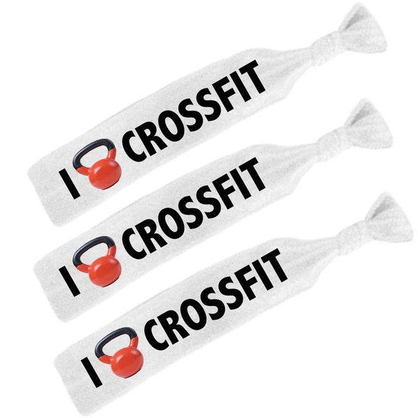 Crossfit Hair Ties Pack.  $5.00 for 3 custom #crossfit hair ties.