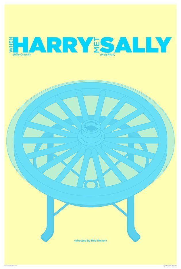Wagon Wheel Coffee Table When Harry Met Sally
