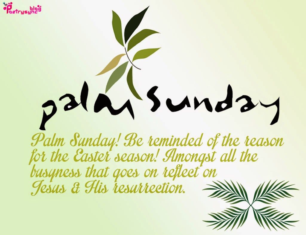 Bible Quotes For Palm Sunday