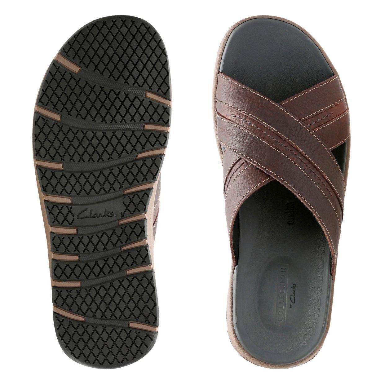 Brixby Cross Mens Clarks Slip On Sandals