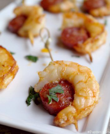 Brochettes de crevettes au chorizo cuisine pinterest brochettes de crevettes chorizo et - Brochettes apero dinatoire ...