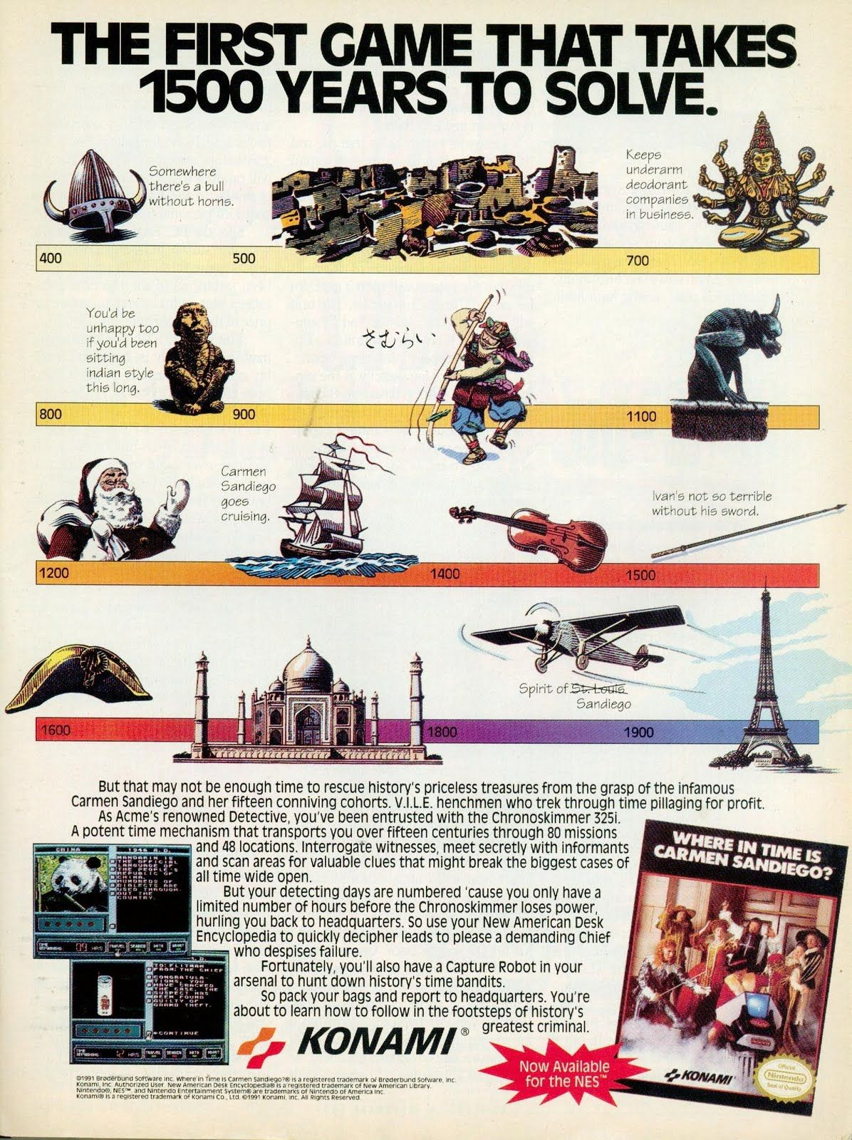 Carmen Sandiego (1991) AD - The First Game That Takes 1500 To Solve
