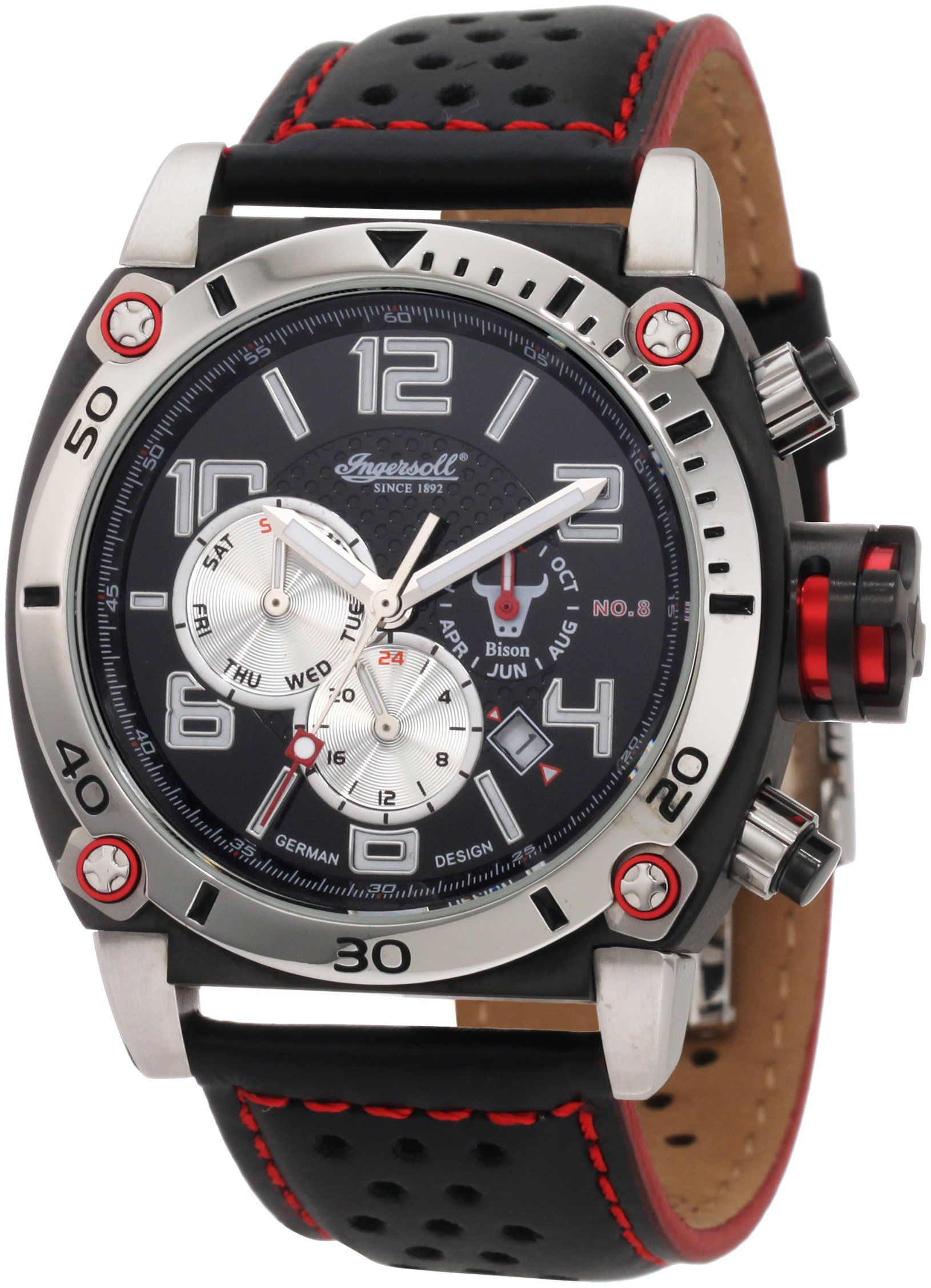 Ingersoll Men's IN2806BK Automatic Bison Number 8 Black Watch