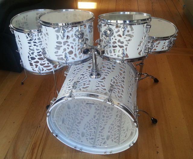 3D printed drums by Olaf Diegel