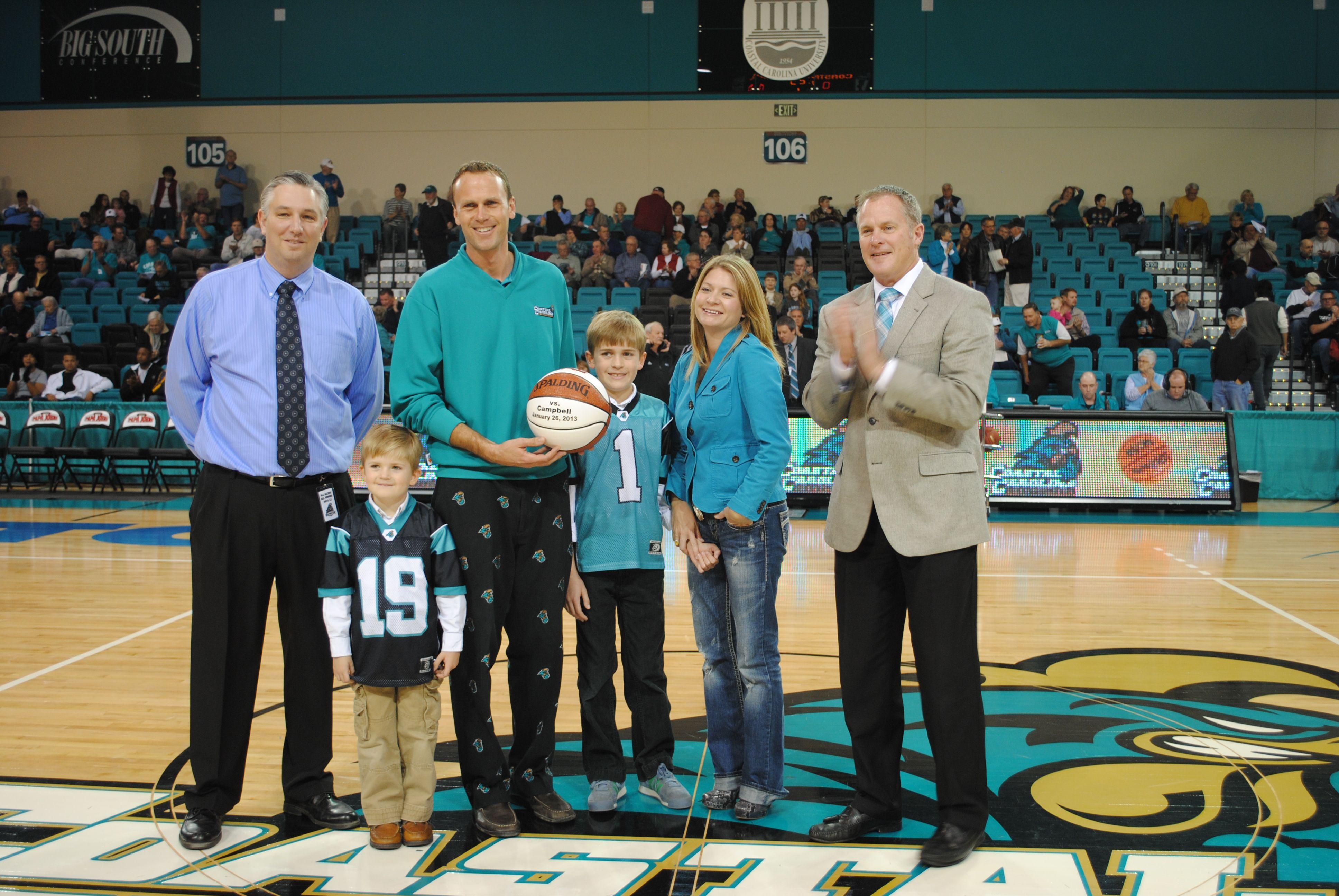 Coastal Carolina University S Athletic Director Hunter Yurachek And Associate Athletic Director Fo Coastal Carolina University Coastal Carolina Mens Basketball