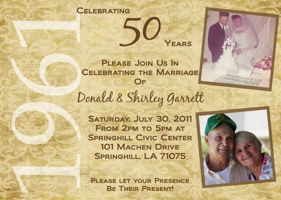 50th Wedding Anniversary Invitation Ideas: 50th Anniversary Invitation, Anniversary Party Invites