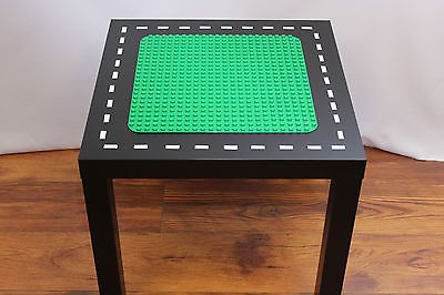 LEGO DUPLO TABLE - CUSTOM MADE - Black Table w/ Green Duplo Top & Road / Track
