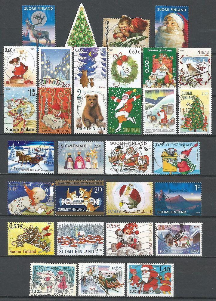 ˳˳ ҉ ˳˳FI01 Finland Christmas Claus Children - 31 different 1976-2013 recent
