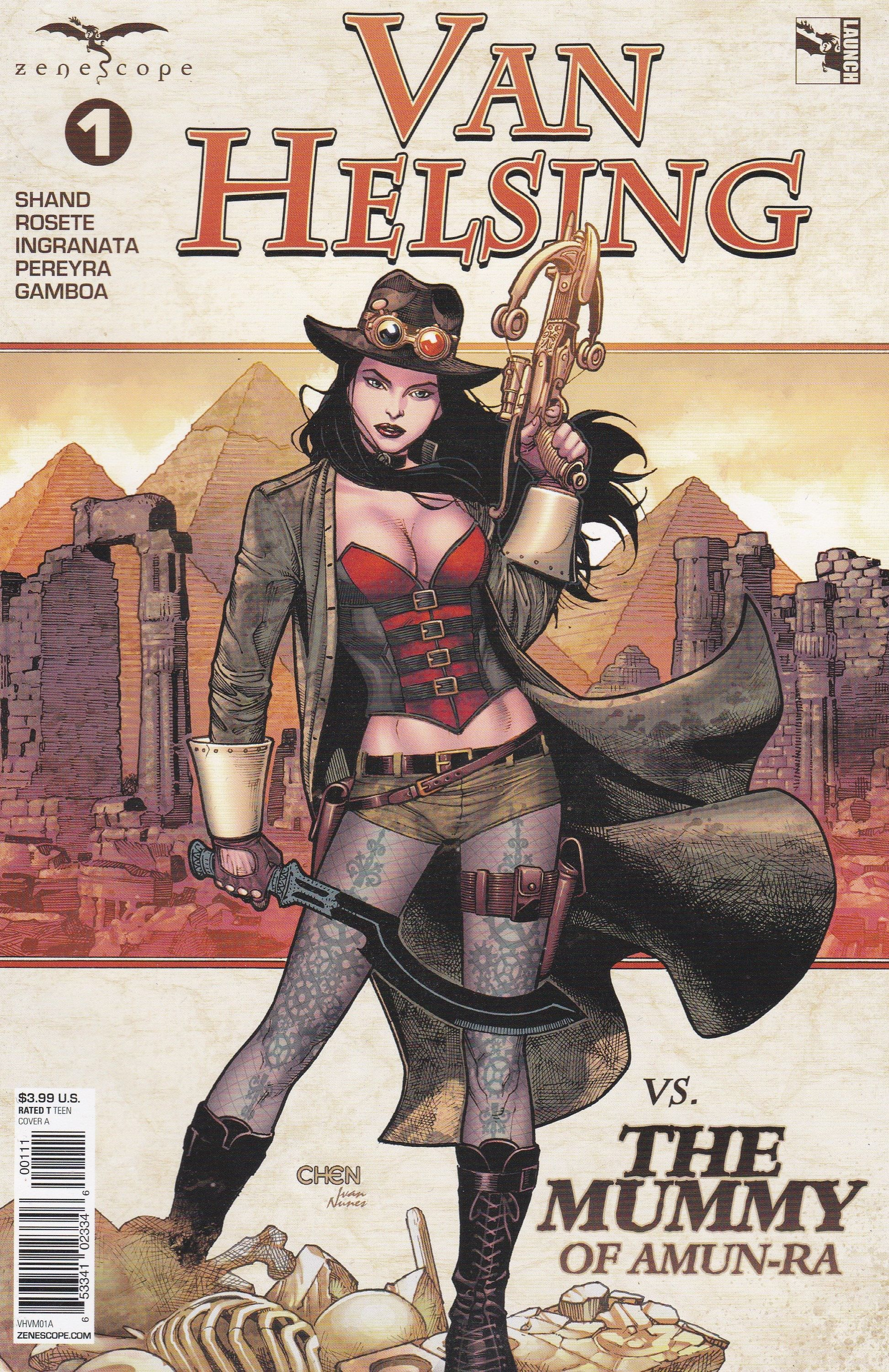 ~ Zenescope comic 1A cover Van Helsing Cover Gallery #1