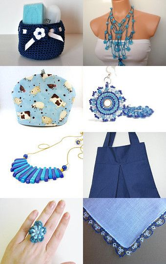 Dreamy Blues for Mom by Bonnie Sernesky on Etsy--Pinned with TreasuryPin.com