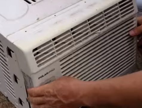 How To Clean How To Clean A Window Air Conditioner Filter Hvac How To Air Conditioner Clean Air Conditioner Window Unit Air Conditioners