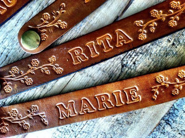 Leather Name Bracelets Google Search