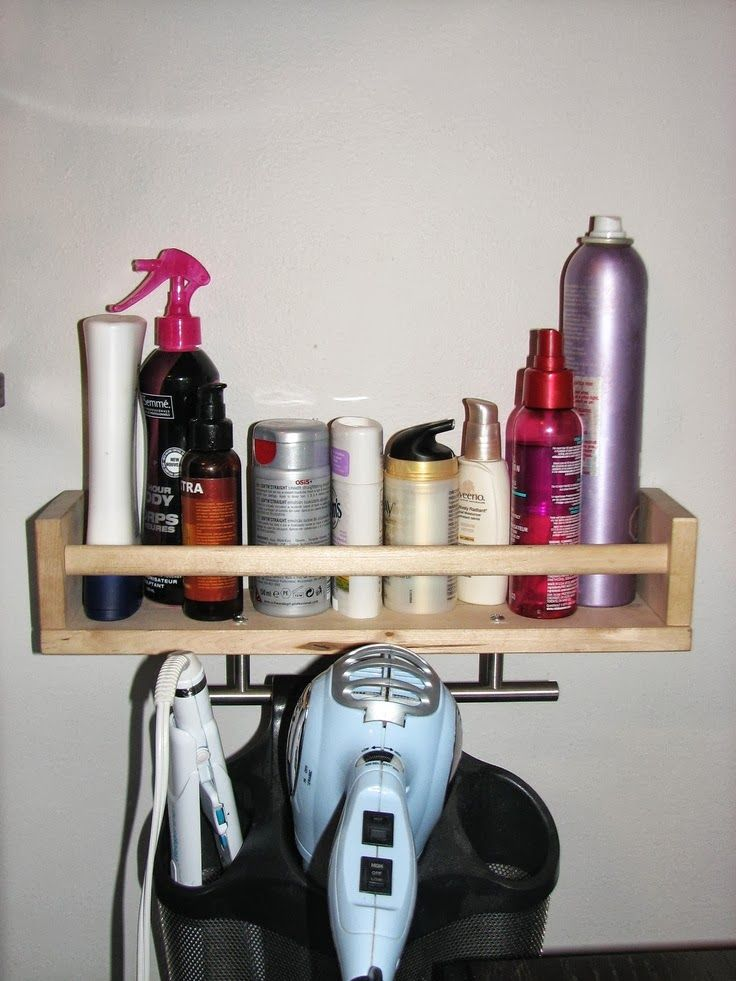 Hair Product Organizer Ikea Spice Rack Small Room Diy Bedroom