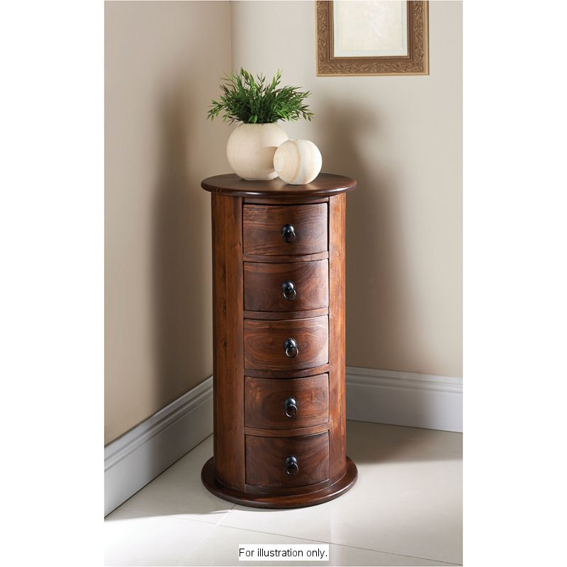 Grosvenor 5 Drawer Round Chest Olhao 48 Ant Delgado