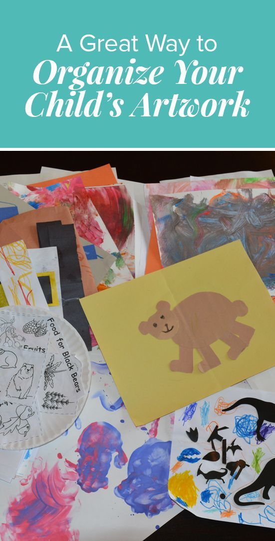 A Great Way to Organize Your Child's Artwork via @thesanityplan
