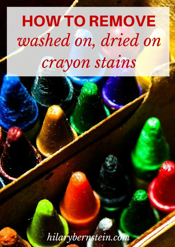 How To Remove Washed On Dried On Crayon Stains Life Hacks