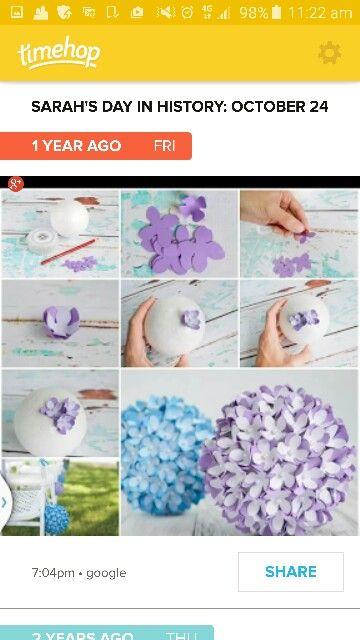 Flower balls.