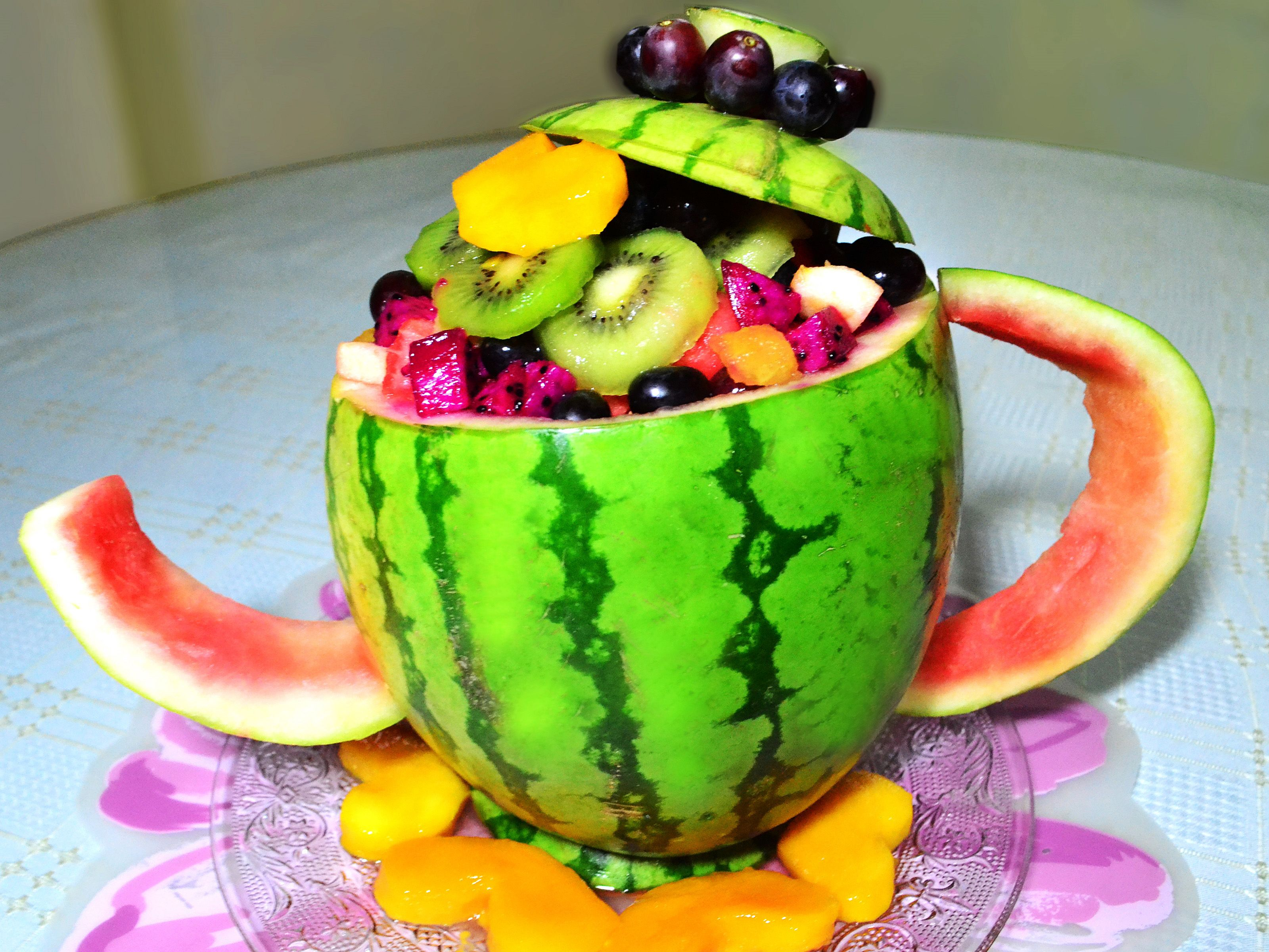 Photo of How to Carve a Watermelon Tea Pot